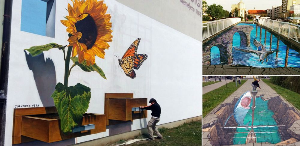 World's Top 3D Street Artists Create Attractions in Vukovar