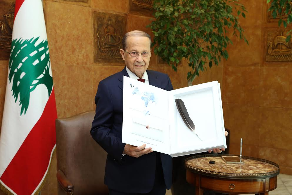 President of Lebanon Receives Klepetan's Feather & Letter From Croatia as Action Promised
