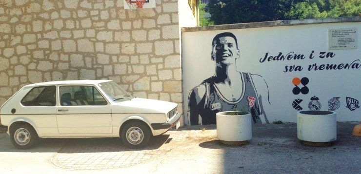 Dražen Petrović's 1983 VW Golf Parked Again at His Home in Šibenik