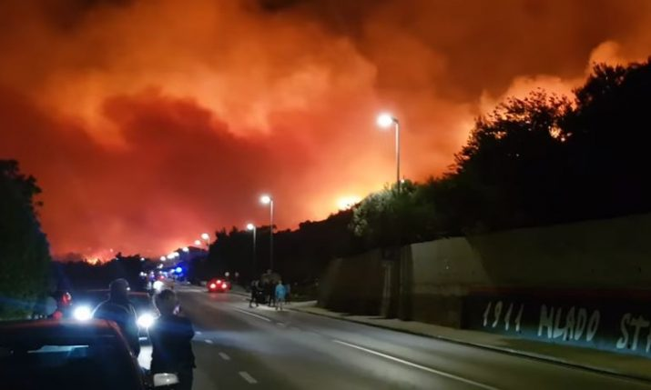 [VIDEO] Tourists Evacuated as New Blaze Starts in Tučepi