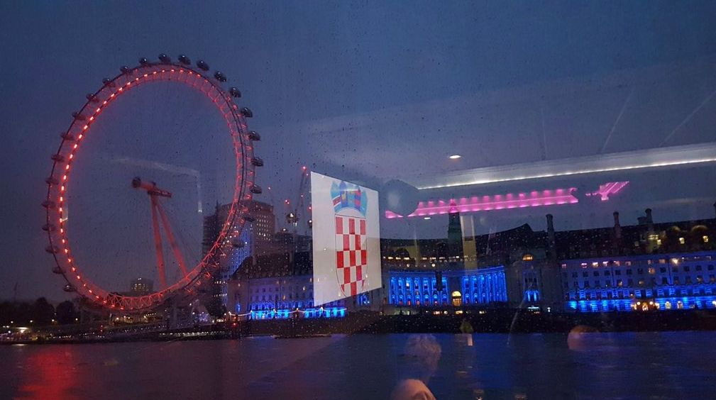 Croatians in London Celebrate Statehood Day on River Thames