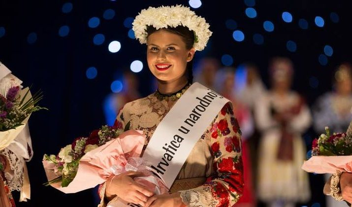 Andrea Radman from Sweden Crowned Most Beautiful Croatian in National Folk Costume Outside of Croatia