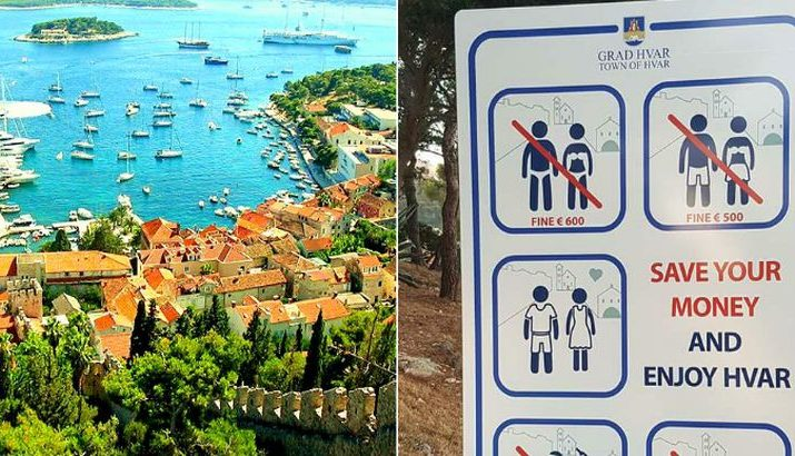 Tourists Warned About New Big Fines on Hvar Island