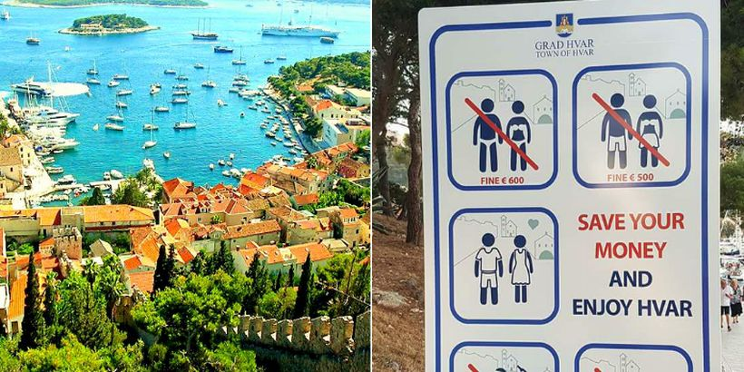 Tourists Warned About New Big Fines on Hvar Island