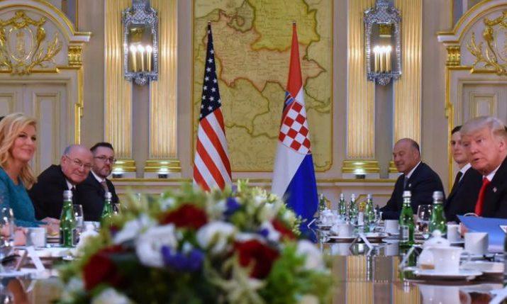 Croatian President Kolinda Grabar-Kitarović Meets US President Donald Trump
