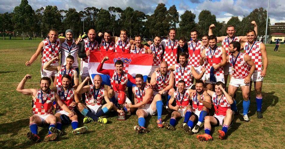 Croatian Aussie Rules Team Winners at AFL International Cup in Melbourne