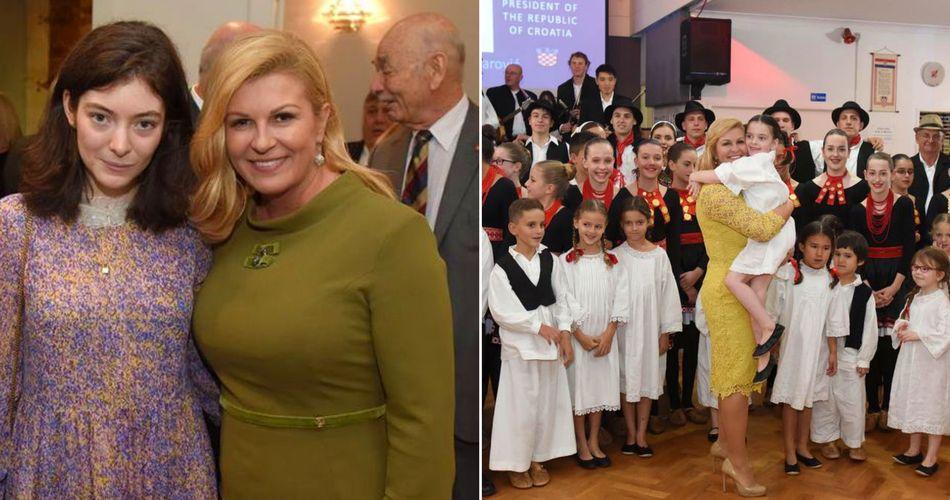 Croatian President Meets NZ's Croatian Community Including Lorde