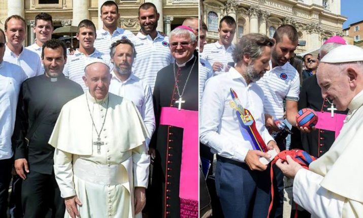 Pope Francis Receives Champion Croatian Water Polo Club VK Jug