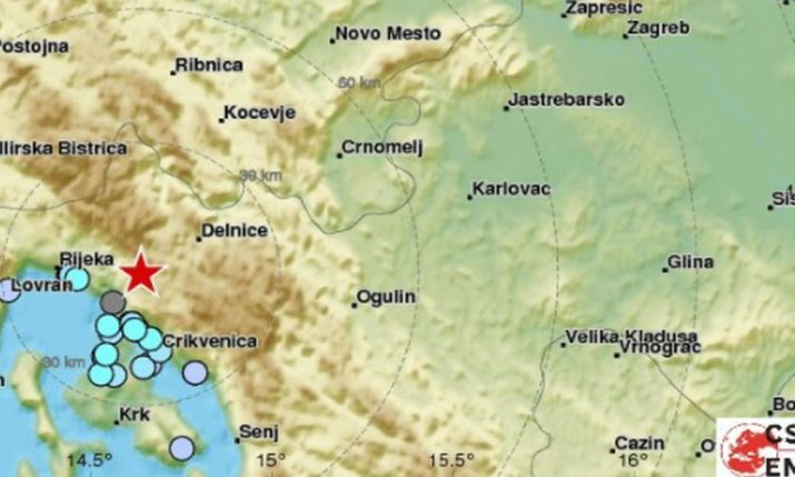 Earthquake Measuring 4.1 Strikes Near Rijeka