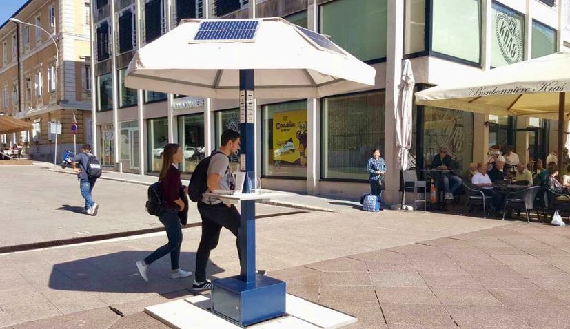 First Croatian Smart Sun Umbrella Presented