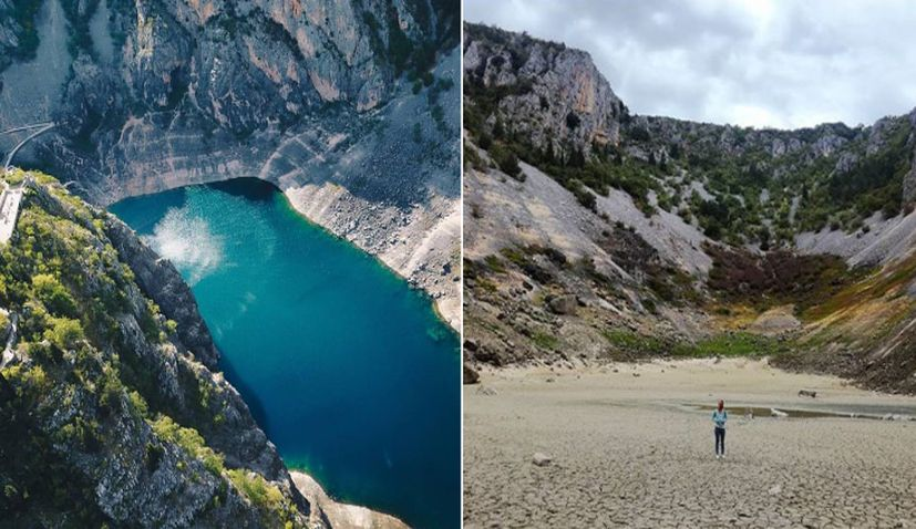 [PHOTO] Blue Lake in Imotski Dries Up