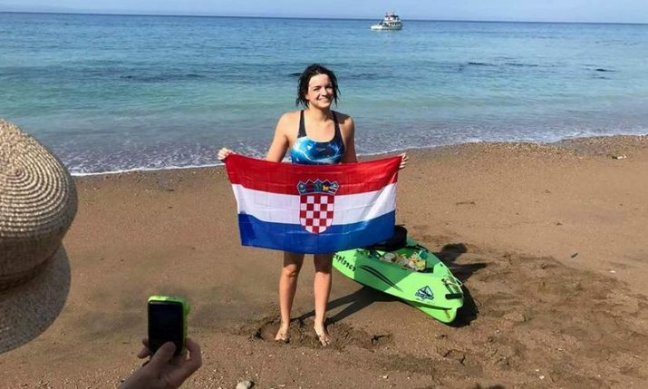 Croatian Swimmer Dina Levacic Swims Across English Channel to Complete Triple Crown