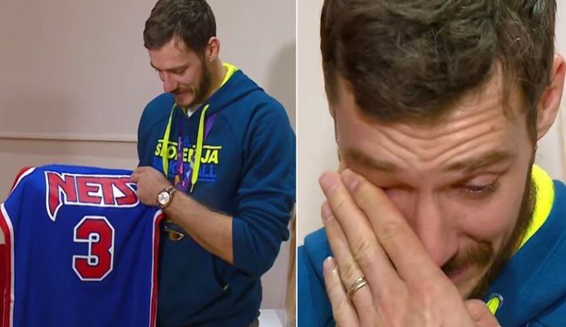 [VIDEO] EuroBasket MVP in Tears After Being Gifted Drazen Petrovic's Jersey