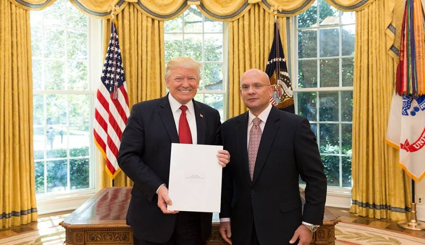 New Croatian Ambassador to the US Presents Credentials to President Trump