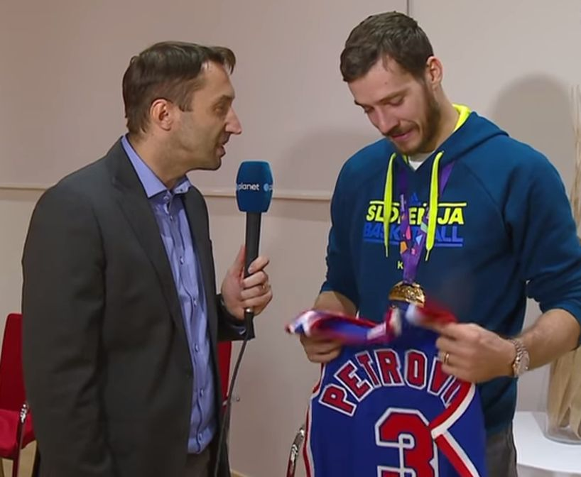 VIDEO  EuroBasket MVP in Tears After Being Gifted Drazen Petrovic s ... c34ab37ed
