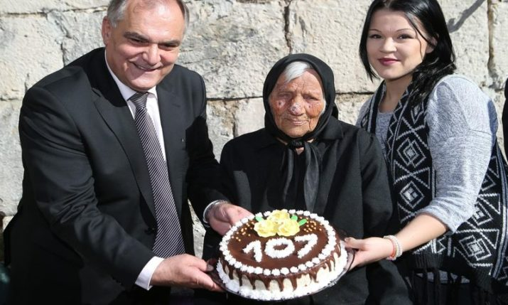 One of Croatia's Oldest Celebrates 107th Birthday