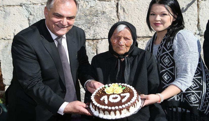 One of Croatia's Oldest Celebrates 107th Birthday