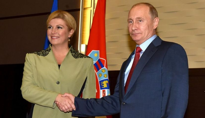 Croatian President Starts Official Visit to Russia With Putin Meeting
