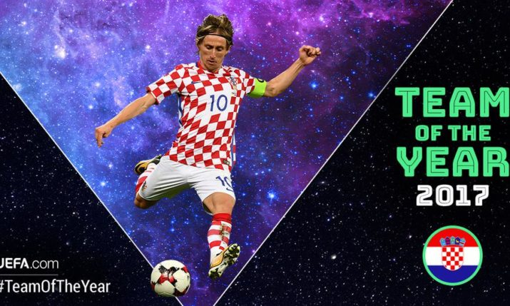 Luka Modric on UEFA Team of the Year Shortlist