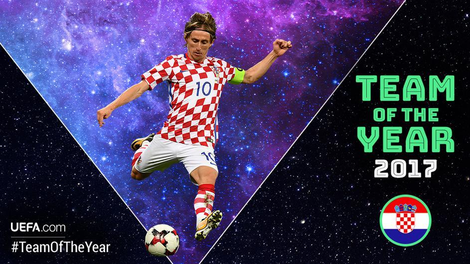 Luka Modric on UEFA Team of the Year Shortlist