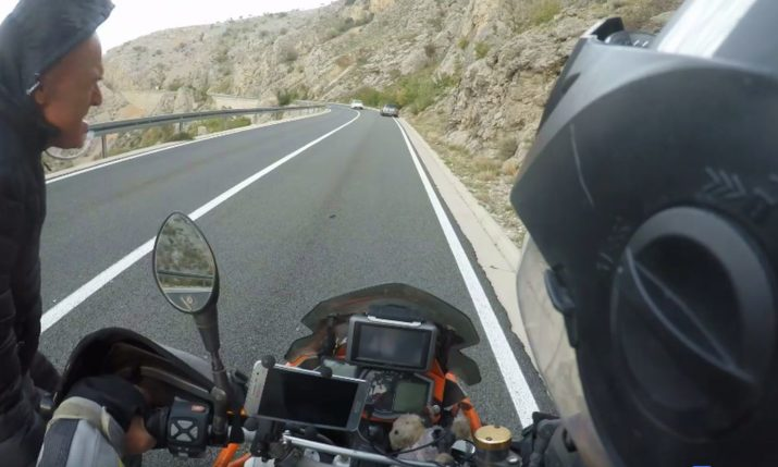 [VIDEO] Biker Takes on Brutal Bura Wind