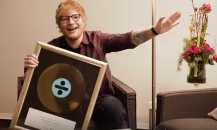 VIDEO: Ed Sheeran Learns Some Croatian After Collecting Most Sold Foreign Album in Croatia Award