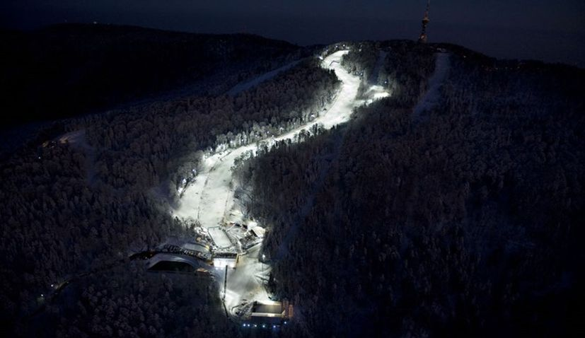 Night Skiing Season Opens in Zagreb