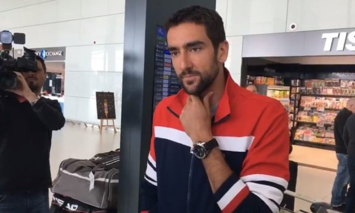 Marin Cilic Arrives Back in Croatia for Davis Cup Clash