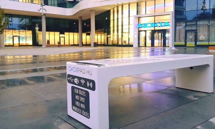 Nokia Install Croatian Smart Bench at HQ in Hungary