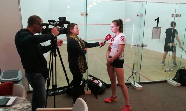 Croatia's Franka Vidovic New European Squash No.1