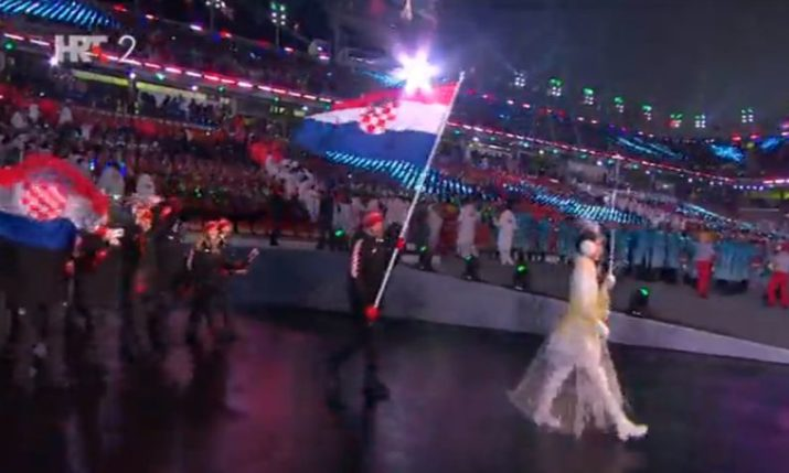 Winter Olympics 2018: Croatia Parades at Opening Ceremony in South Korea