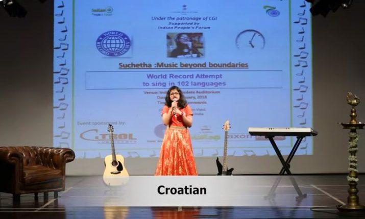 Indian Girl Breaks World Record by Singing in 102 Languages, Including Croatian