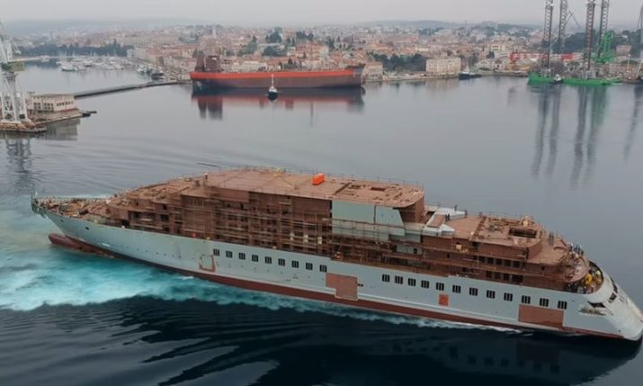 VIDEO: Timelapse of World's First Discovery Yacht 'Scenic Eclipse' Built in Croatia