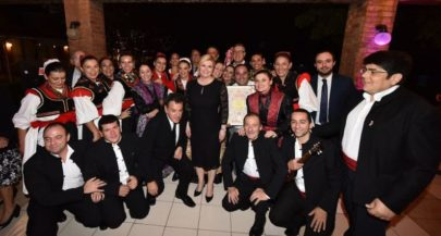 President Meets Croatian Community in Chile