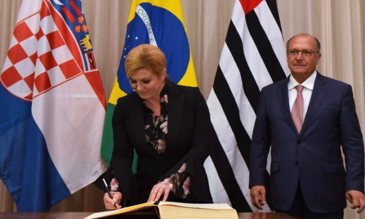 Croatian President Starts Working Visit to Brazil