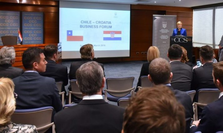 Croatian President Starts Chile Visit with Chilean-Croatian Economic Forum