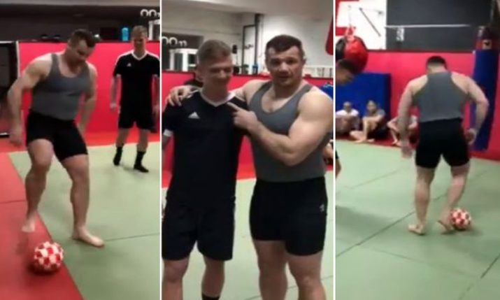 VIDEO: Mirko 'Cro Cop' Filipovic Shows off His Football Skills