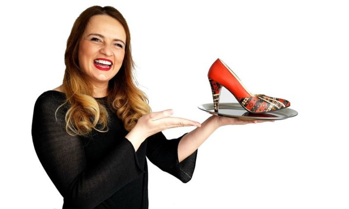 Authentic Croatian High Heels with Traditional Prints