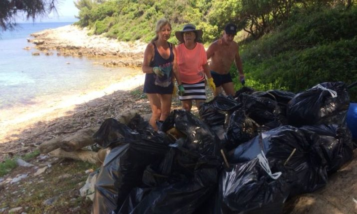 Friends of Croatia Beach Cleanup Mission on Korcula Island