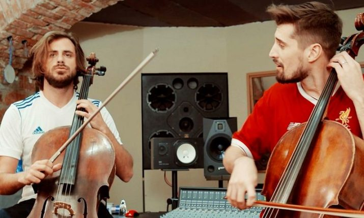 VIDEO: 2CELLOS Prepare for Champions League Final with 7 Nation Army Cover