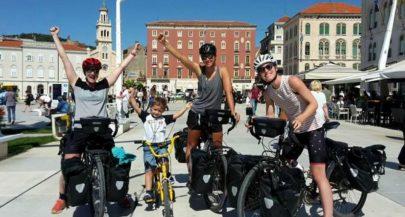 Kiwi Women Biking from Switzerland to New Zealand Arrive in Split