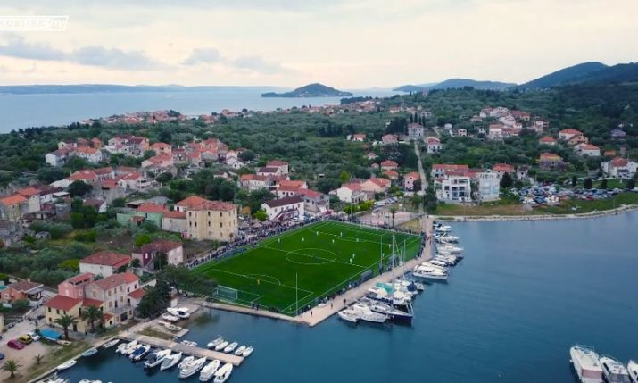 VIDEO: Stunning Croatian Island Football Ground Opens