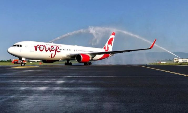 Inaugural Air Canada Rouge Flight Touches Down in Zagreb