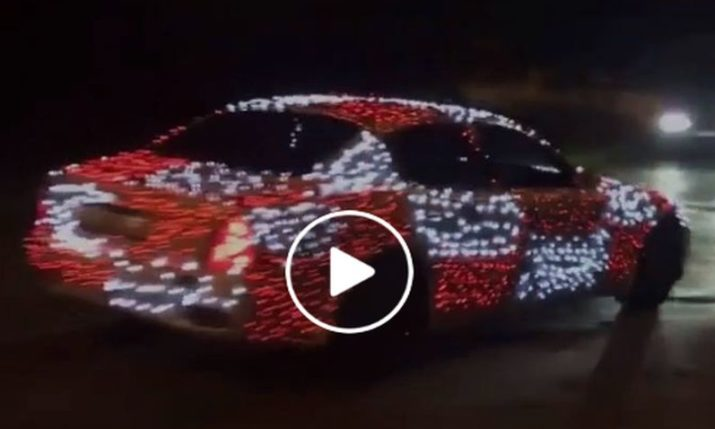 VIDEO: Red & White Checkered Lit Up Car a Hit in Zagreb