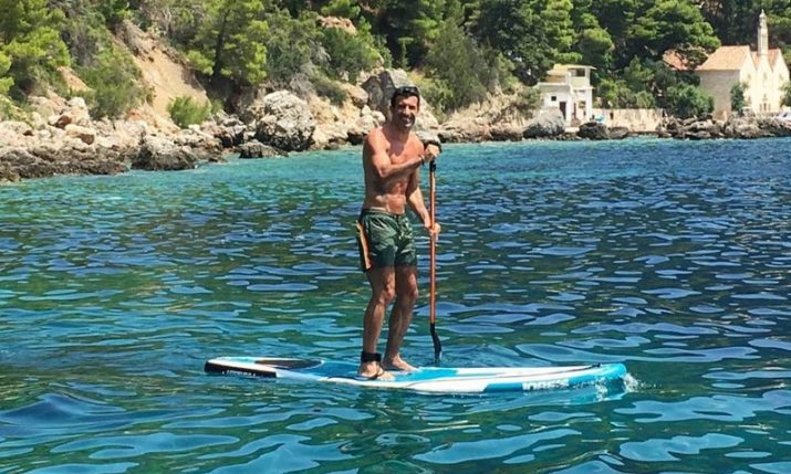 Former Portuguese Football Star Luis Figo Enjoying Croatia