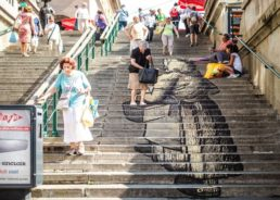 PHOTOS: New Artistic Work on Steps to Zagreb's Dolac Markets