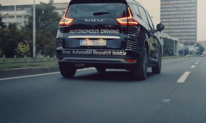 VIDEO: Rimac Tests Autonomous Car on Zagreb Roads