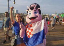 VIDEO: Santa Monica Supporting Croatia All the Way