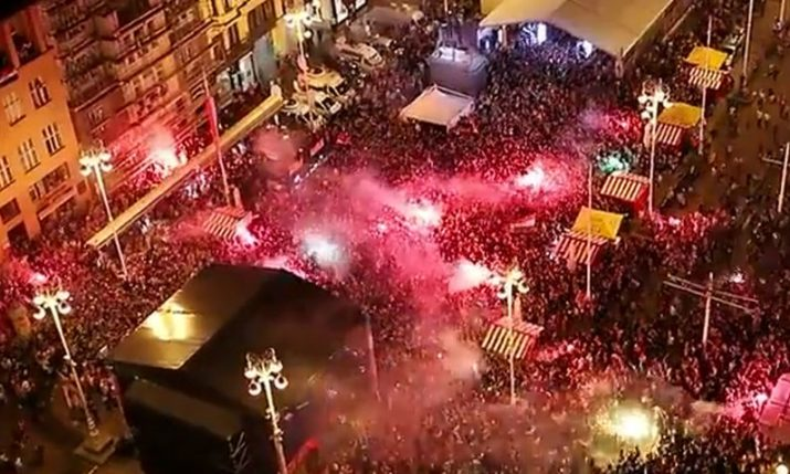 VIDEO: Wild Scenes in Croatia as Nation Celebrates Making World Cup Final