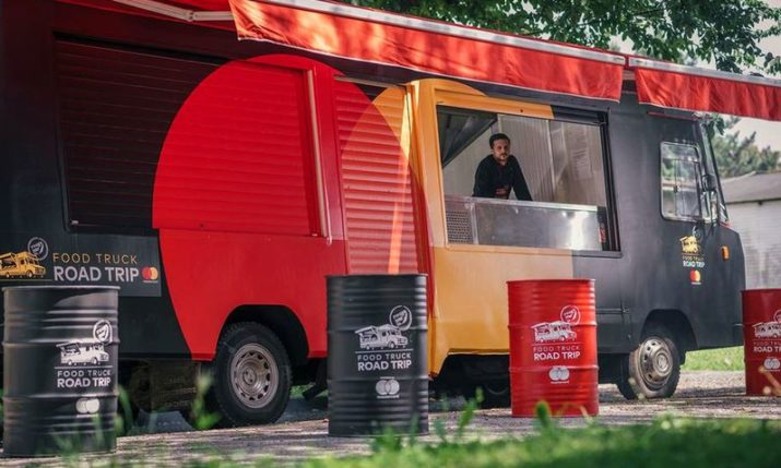 Food Truck with Local Specialties Touring Croatia